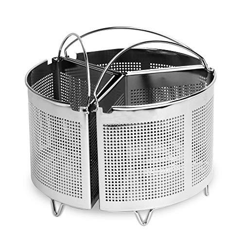 Set di 3 divisori casseruola con maniglie | Stoccaggio Stoviglie da cucina risparmio | Divisori in acciaio inossidabile | Cucina sana | M&W