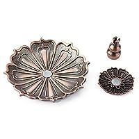 香炉ホルダー、香炉、古典的な家具の工芸品の家の装飾の寝室のための銅の花のモデリングデザイン