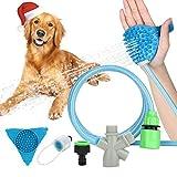 【Pommeau de douche pour animal de compagnie】il ne s'agit pas seulement d'un pommeau de douche pour animal de compagnie, mais aussi d'une brosse de massage pour chien, chat, profitez de la douche et du massage en même temps. Il est très important que ...