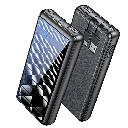 Portable Charger 36800mAh, LENGSUM Power Bank Solar Charger with 2...