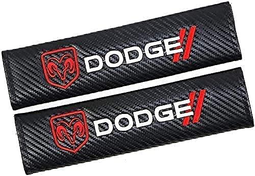 2Pcs Coche Almohadillas Cinturón Seguridad para Dodge Challenger Journey Charger Caravan Ram, Hombro Correa Cojín Cuello Protector Interior Accesorios