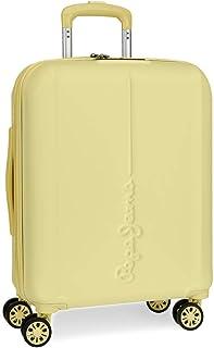 Maleta de cabina Pepe Jeans Glasgow Amarillo rígida 55cm