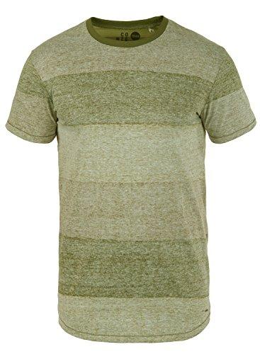 !Solid Teine Herren T-Shirt Kurzarm Shirt Mit Streifen Und Rundhalsausschnitt, Größe:M, Farbe:Duffel Bag Green (3590)