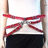 Mayelia - Arnés de piel punk con capas para la cintura, cadena para el vientre de piel para la playa, cadena para el cuerpo, joyería para mujeres y niñas