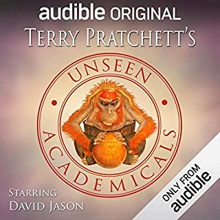 Unseen Academicals     An Audible Original Drama              By:                                                                                                                                 Terry Pratchett                               Narrated by:                                                                                                                                 David Jason,                                                                                        Jon Culshaw,                                                                                        Mathew Horne,                   and others                 Length: 4 hrs and 32 mins     1,063 ratings     Overall 4.4