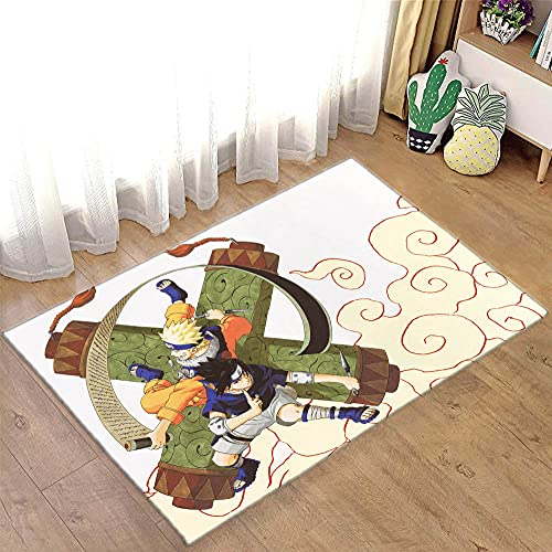 Tapete de área com estampa 3D Naruto Tapete para sofá, porta, cozinha, quarto, família, jogo, quarto, salão, sala de estudo, anime1_47,2 x 70,8 polegadas