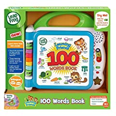 Meet learning friends Turtle, Tiger and Monkey who will introduce more than 100 age-appropriate words chosen by learning experts Word categories include: pets, animals, food, mealtime, colors, activities, opposites, outside and more Touching the word...