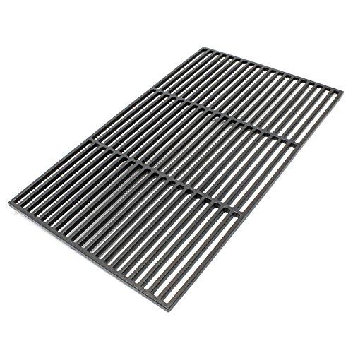 Wiltec Gusseisen Grillrost eckig 60 x 40 cm massiv für Holzkohlegrill Gasgrill