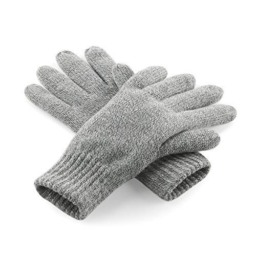 Beechfield - Gants thermiques Thinsulate polaires - Adulte unisexe (S/M) (Gris)