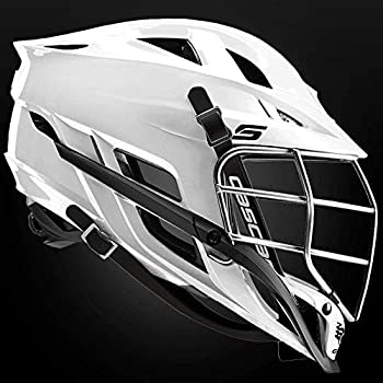 CASCADE S Youth White Lacrosse Helmet Black