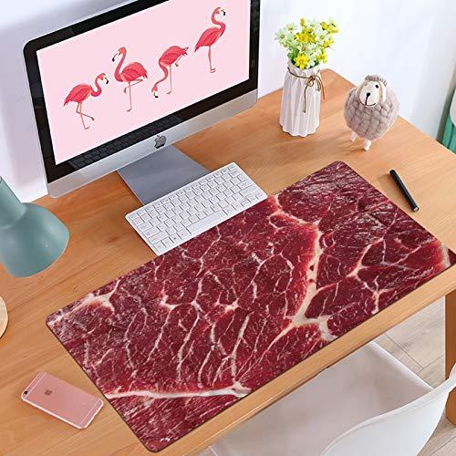 Gaming-Mauspad Steak de repas de boeuf Rouge de viande Crue,Anti-Rutsch-Mauspad mit spezieller Oberfläche
