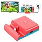 YOMADFUN Portable Switch TV Dock, Station de Recharge pour Nintendo Switch/Switch Lite, HDMI Adaptateur pour Nintendo Switch avec Type-C, Port USB 3.0 2.0 - Rouge