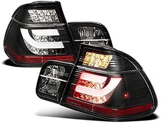 ZMAUTOPARTS LED Strip Tail Brake Lights Rear Lamps Black For 2002-2005 BMW 3 Series E46 Sedan 4DR