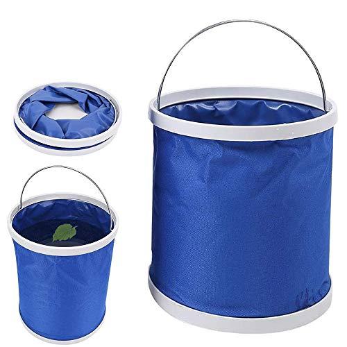 TUSNAKE Cubo Plegable Cubeta de Agua portátil Multiuso, Plegable, Ligera, Apto para Lavado de Autos,Espacio para Vacaciones, Jardín, Exterior, Pesca y Camping, Versátil,(11L)