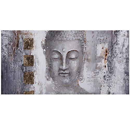 XIONGSHENGFBH Abstrakte Zen Lord Buddha Ölgemälde auf Leinwand Religiöse Poster und Drucke Wand Pop Art Bilder Für Wohnzimmer-50x120 cm Kein Rahmen