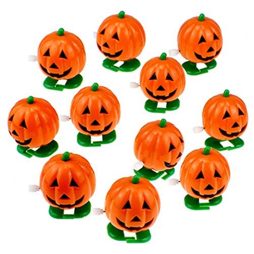 STOBOK 4 Piezas de 5X4cm Juguetes de Cuerda de Halloween Juguetes de Cuerda de Calabaza de Fiesta de Halloween Juguetes de Truco de Utilería de Halloween Niños