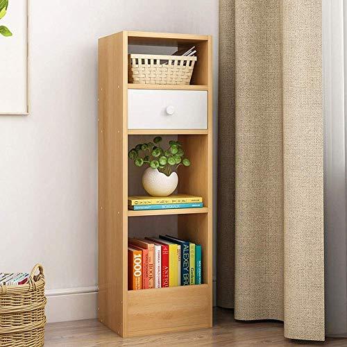 AOIWE Libreria Libreria Espositore Libreria Più Ripiano Aperto Armadietto con Cassetti Libero Supporto per CD Organizzatore per
