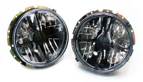 Carparts-Online 10621 Schwarze Klarglas Scheinwerfer mit Fadenkreuz