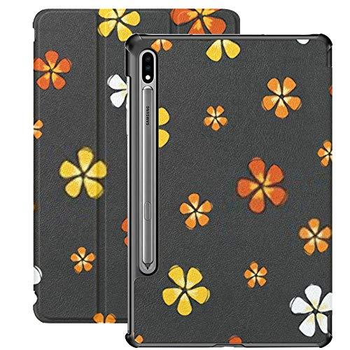Funda Galaxy Tablet S7 Plus de 12,4 Pulgadas 2020 con Soporte para bolígrafo S, Flores Coloridas de Moda Ditsy Flower en Funda Protectora con Soporte Delgado para Samsung