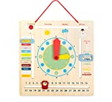 Small Foot 10850 Lerntafel Educate mit Jahreszeiten aus Holz, Vorschulspielzeug, für Kinder ab 3 Jahren Spielzeug