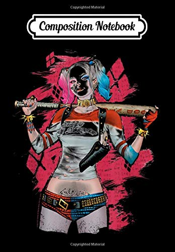 Composition Notebook: Suicide Squad Harley Quinn Drawn Bat, Journal 6 x 9,...