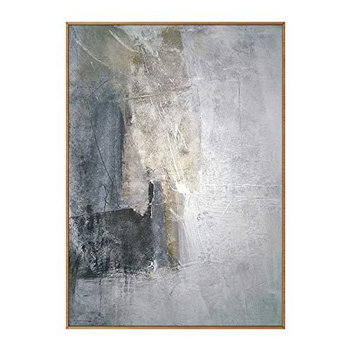 Hand Painted Oil Painting On Canvas 100% Hand Geschilderd Abstract Landschap Olieverfschilderij Op Doek,Moderne Grote Zwarte Grijze Graffiti Foto Muur Decoratie Kunstwerk Voor Woonkamer Huis Decor,100
