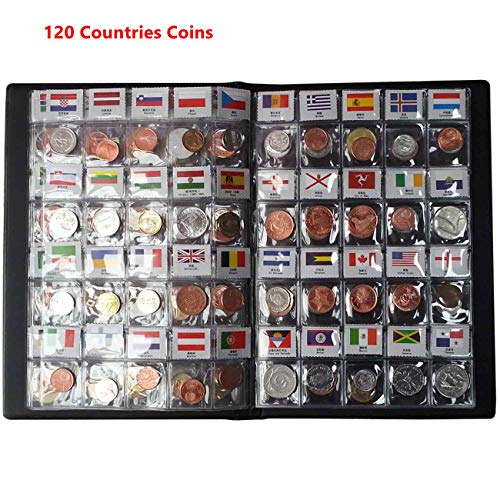 Coin Collection Starter Kit 120 Countries Coins /100% Original Genuine/World Coin with Leather Collecting Album Taged by…