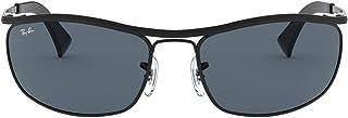 نظارة شمسية باطار اولمبيان ملفوف وعدسات مستطيلة الشكل من راي بان طراز RB3119