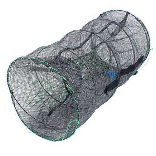 iplusmile 魚捕り網 漁網 魚捕り お魚キラー 折り畳み式 漁具 魚網 釣り網 網カゴ エビ カニ ウナギ アナゴ タコ 小魚 一網打尽 仕掛け 餌を入れて待つだけ ばっちり捕獲 60x30x30cm
