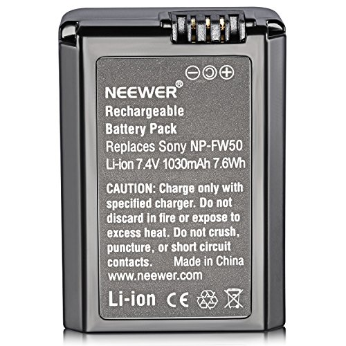 Neewer 7.2V 1030mAh Camera Battery Replacement for Sony A5100 A6000 A6300 A6400 A6500 A7 A7R A7S A7II A7RII A7SII NEX5/6/7 RX10 series and More