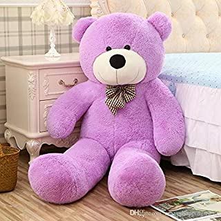 WOWMAX 6 Foot Purple Giant Life Size Teddy Bear Cuddly Stuffed Plush Animals Teddy Bear Toy Doll 71