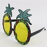 1 x Ananas-sonnenbrillen Brille Hawaii Hula Kostüm Zubehör