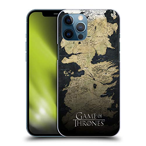 Head Case Designs Officially Licensed HBO Game of Thrones Westeros Map Key Art Hard Back Case Compatible with Apple iPhone 12 Pro Max
