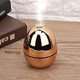 Jeffergarden Portable Mini doré en Forme d'oeuf Humidificateur USB Mise Hors Tension Automatique pour Voiture Home Office