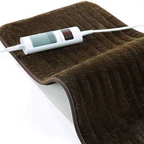 Elektrisch Heizkissen für Rücken Schulter Nacken, 30 x 60cm Wärmekissen mit 6 Anpassbare Heizstufen und 90 Minuten Abschaltautomatik, Heizkissen mit Schnelles Aufheizen, Waschmaschinenfest
