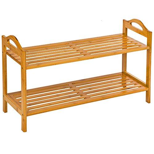 TecTake Estantería Zapatero de Madera bambú para Calzado - Varios Modelos - (68x25x41cm | No. 401651)