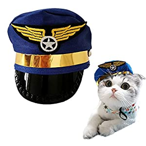 PET SHOW Small Medium Dogs Cats Hat Party Halloween Costume Grooming Accessory Photo Props for Pets Puppy Doggies Kitten Pack of 1 (Blue)