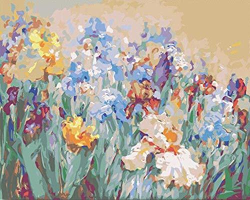 MYYDM Kits de Pintura por números con Pinceles y Pigmento acrílico para Bricolaje Pintura en Lienzo preimpresa para niños y Adultos Principiantes Florales en Todas Partes 16 x 20 Pulgadas (sin Marco)