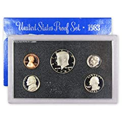 "This official U.S. Mint 5 coin set contains a Clad Kennedy half dollar, Washington quarter and Roosevelt dime, along with a Jefferson nickel and Lincoln cent All coins bear the San Francisco ""S"" mint mark Extra sharp images, and mirrorlike surfaces A..."