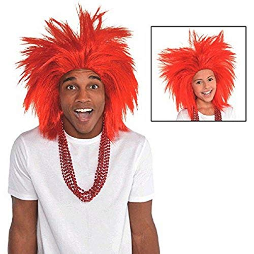 Amscan, Red Crazy Wig Costume Accessories, One Size
