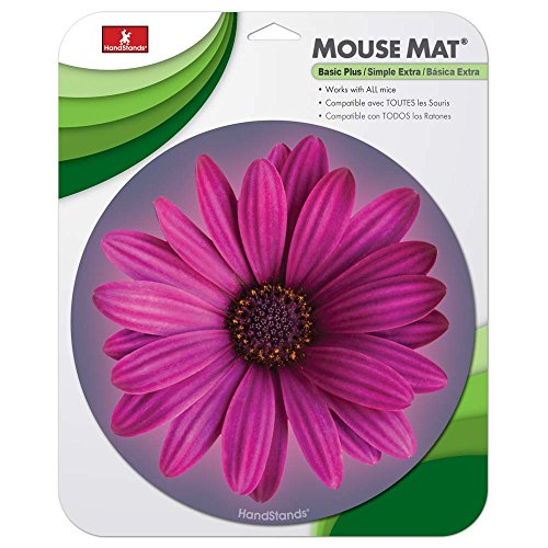 Handstands 1 Smooth Mouse Pad, Round Flower (13121)