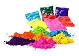 OMG-Deal Gulal Holi Pulver Gulal Farbpulver – Packung mit 5 Stück, je 100 g, Festival Colors Color Powder