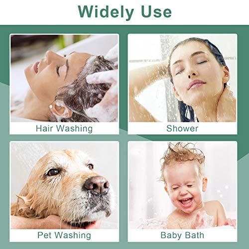 Klleyna Sink Faucet Hose Sprayer for Hair Washing, Shower Head Attachment for Bathtub Baby Bath (5 Adapters), ON/OFF Sprayer Pet Dog Rinse, Faucet Extension for Moen, Kohler, Delta, American Standard