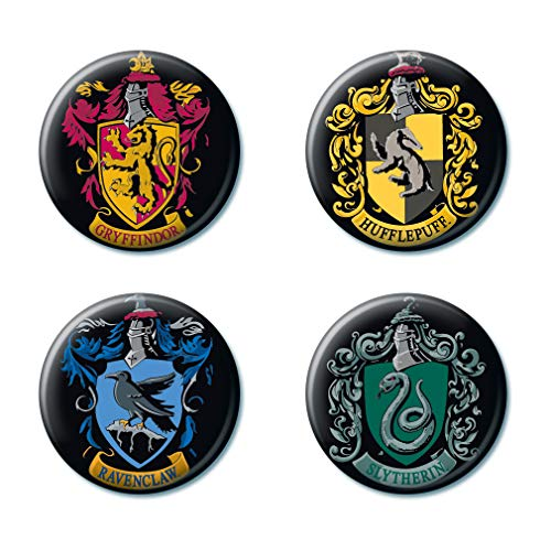 Ata-Boy Harry Potter Houses of Hogwarts Crests Set of 4 1.25' Collectible Buttons