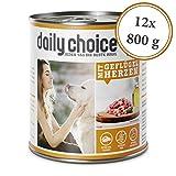 daily choice | 12 x 800 g | Nassfutter für Hunde | getreidefrei | Mit...