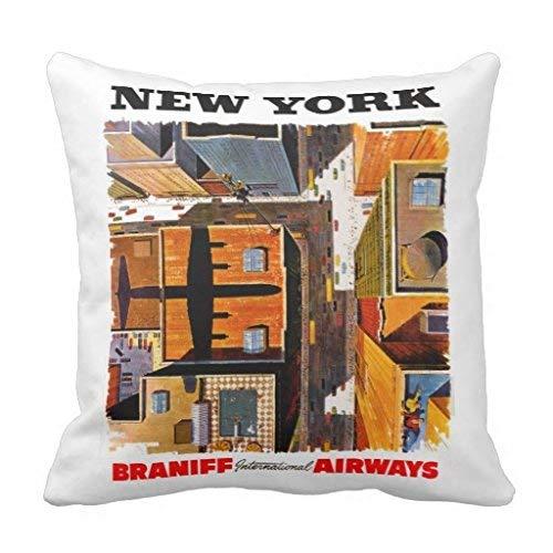 yting New York Rooftops Throw Pillow Cover pour Chaise Longue, Divan, extérieur, Chaise Longue, pub, Famille 18\