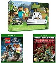 Xbox One S 500GB Console - Minecraft Bundle, LEGO Jurassic Park, and Teenage Mutant Ninja Turtles: Mutants in Manhattan