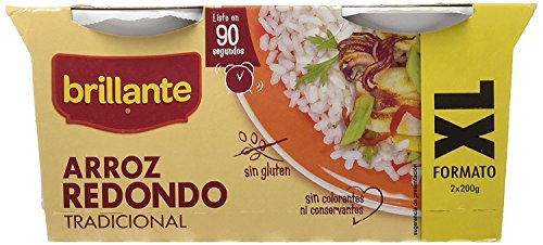 Brillante Arroz Redondo -  Pack de 16 vasitos X 200 Gr - Total 3200 Gr