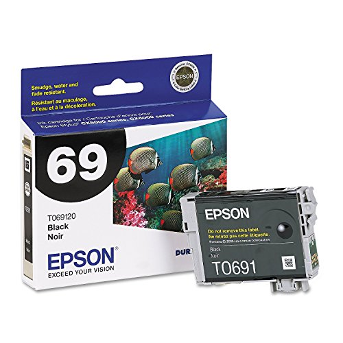 Epson 69, (T069120-S) DuraBrite Ultra Black Ink Cartridge