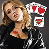 Bride of Chucky Heart (3-pack) Plus Tiffany Heart | Halloween Costume Tattoo Kit | Skin Safe | MADE IN THE USA| Removable Product Name